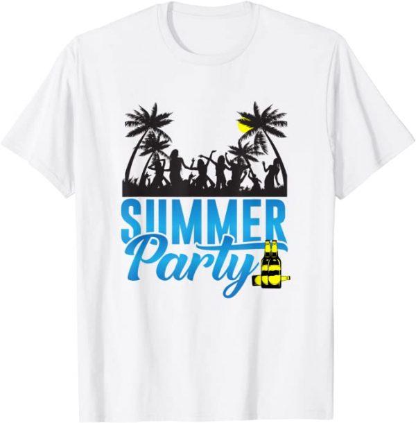 Sommer Party, Tanz, Leute tanzen, trinken, Strand, Sonne T-Shirt