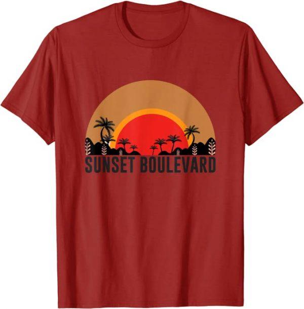 Sonnenuntergang, Sunset, Sommer, Strand, Palmen, Retro Print T-Shirt