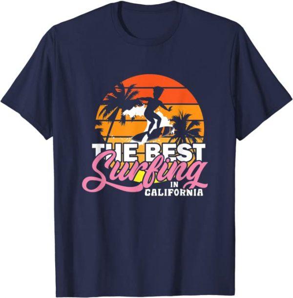 Surfing in California, Urlaub, USA, Surfen, Strand, Sommer T-Shirt
