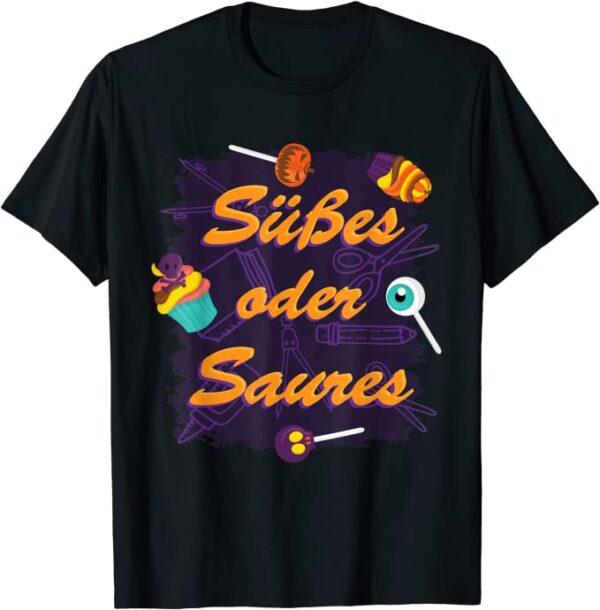 Halloween Süßes oder Saures Kinder Kostüm T-Shirt