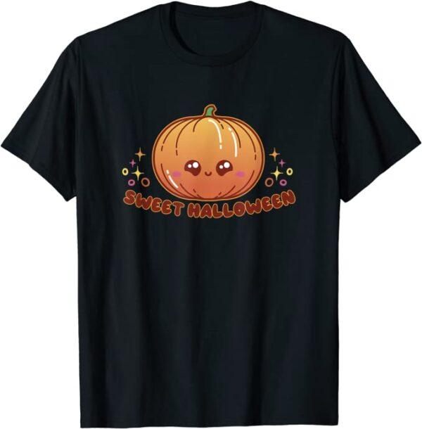 Halloween süßes Kürbis-Gesicht Kinder Kostüm für Halloween T-Shirt